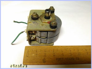 Receiver Meridian. Production of the USSR. Variable capacitor capacitance.