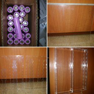Case for 18650 batteries