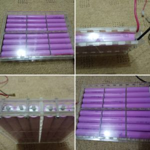 Case for 18650 batteries