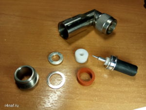Разъёмы N-MALE N-LP-8DFB Stainless Steel для кабеля 8D-FB или RG-8