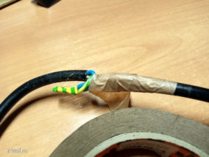 Self-made extension cord from computer wires