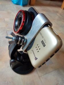 Самодельное крепление для автомобильного видеорегистратора