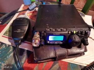 Трансивер Yaesu FT-817ND на УКВ частоте 144300кГц