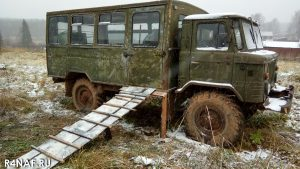 Bridge for a motorcycle in GAZ-66